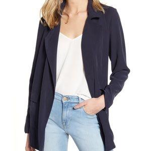 NWT Topshop drapey Blazer size 2 Navy